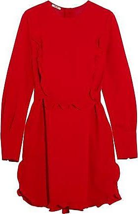 0704e32087 Miu Miu Miu Miu Woman Ruffle-trimmed Crepe Mini Dress Red Size 36