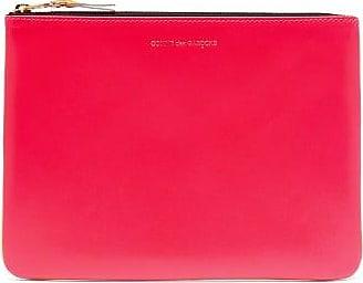 Comme Des Garçons Comme Des Garçons Wallet - Colour-block Leather Pouch - Womens - Pink Multi
