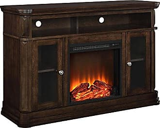 Dorel Home Products Ameriwood Home Brooklyn Electric Fireplace TV Console for TVs up to 50, Espresso