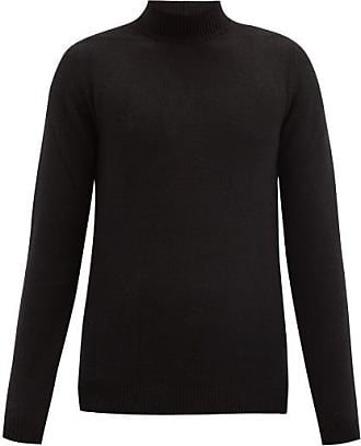 Rick Owens High-neck Cashmere-blend Sweater - Mens - Black