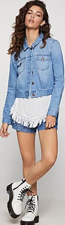BCBGeneration Cropped Denim Trucker Jacket