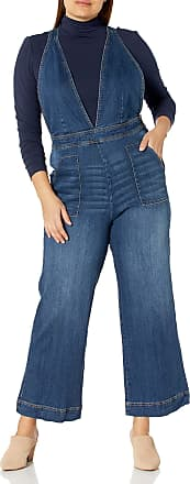 dollhouse Womens Plus Size Denim Jumpsuit
