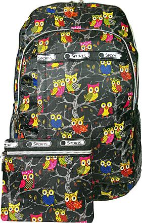 GFM Happy Backpack Colourful Owl Bag For School, Gym, Holidays, Beach, Casual Bag (S1-6215-OT-KL)