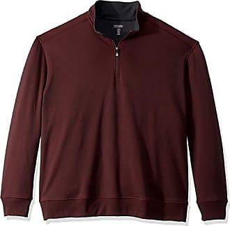 Van Heusen Mens Big and Tall Flex Fleece Long Sleeve Quarter Zip, red merlot, 3X-Large Big
