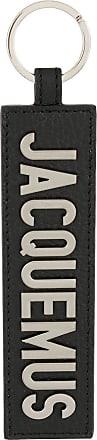 Jacquemus Chaveiro de couro com logo - Preto
