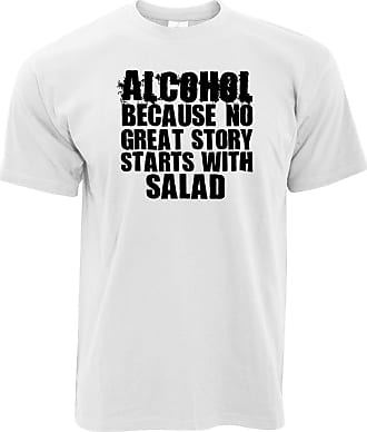 Tim And Ted Novelty T Shirt No Great Story Starts with Salad - (White/XXXX-Large)