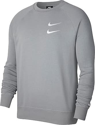 Nike NSW Swoosh Sweatshirt Herren in particle grey-iron grey-white, Größe XXL