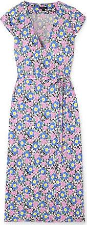 J.crew Fabrizia Floral-print Jersey Wrap Dress - Pink