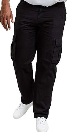 Duke London Duke Mens Robert Cotton Cargo Trousers - Black - 48W X 30L