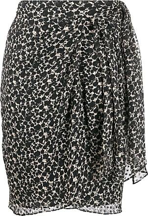 Iro asymmetric floral midi skirt - Black