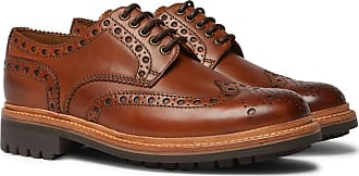 Grenson Archie Leather Wingtip Brogues - Tan
