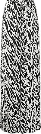 Diane Von Fürstenberg Calça pantalona Jenette com estampa de tigre - Preto