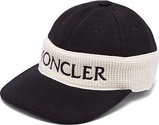 Moncler Fitted Logo-embroidered Cotton Cap - Mens - Black Multi