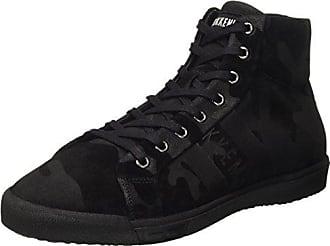 sports shoes 12da7 15fe6 Dirk Bikkembergs Herren Campus 732 Mid Shoe M Suede High-Top Schwarz  (Camouflage Black