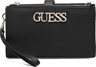 Guess Uptown Chic Slg Dbl Zip Org Bags Card Holders & Wallets Wallets Svart GUESS