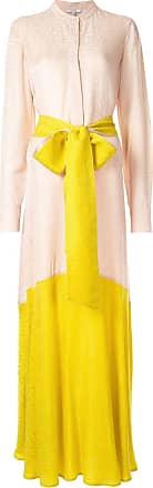 Layeur Vestido longo color block - Rosa