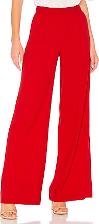 Alice & Olivia Eric Pant in Red