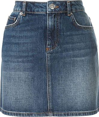 Ganni Saia jeans Camfield - Azul