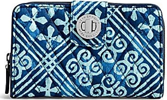 Vera Bradley Womens RFID Turnlock Wallet, Cuban Tiles