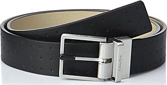 Calvin Klein Rev adj Embossed Logo Belt 3.5cm, Ceinture Homme, Noir ( a7992f173a8