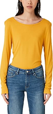 Q/S designed by - s.Oliver Womens 2005709 Long Sleeve Top, Yellow (Honey 1396), 12 (Size: Medium)