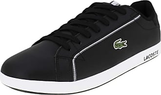 276b44ccfe79 Lacoste Mens Graduate 119 1 SMA Blk Gry Trainers