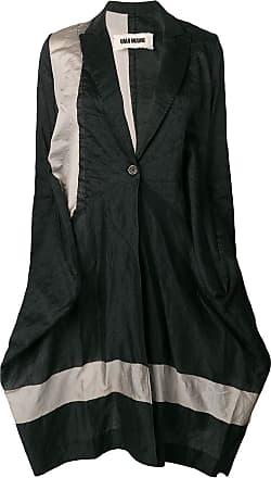 Uma Wang loose fit single breasted coat - Black