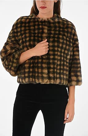 Yves Salomon Checked Real Fur Jacket size 44