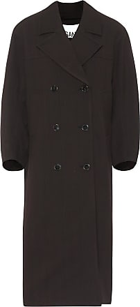 Ganni Checked double-breasted coat