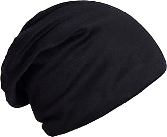 DonDon Womens Classic Slouch Beanie for wear all year round breathable soft and suitable for heads of all sizes - Black
