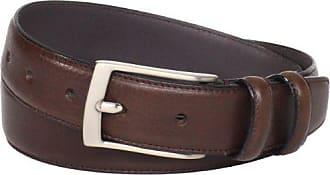 Florsheim Mens Italian Full Grain Leather Single Stitched Edge 32mm, Brown, 38