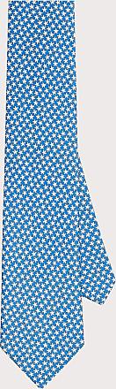 Salvatore Ferragamo Uomo Cravatta in seta stampata con stelle marine Blu