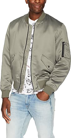 The Kooples Silk Bomber Jacket with Pockets, Kak, Medium