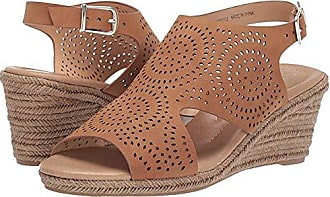 xoxo Womens SUMMERDALE Espadrille Wedge Sandal, Tan, 6.5 M US