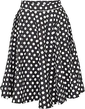 04a0fab0151d24 Küstenluder Damen Rock Lenore Vintage Polka Dot Tellerrock (L, Schwarz mit  weißen Dots)
