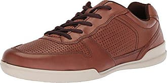 Ecco Mens Enrico Tie Sneaker, Mahogany Perforated, 40 M EU (6-6.5 US)