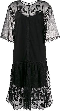 See By Chloé Slip dress com renda - Preto