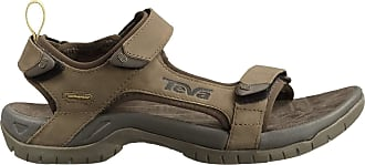 Teva Mens Tanza Leather Sports and Outdoor Sandal, Brown, 7 UK (40.5 EU)