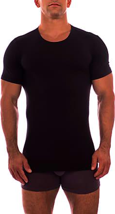 Obviously Mens Essence Crew Neck Short Sleeve Undershirt - Black - Large