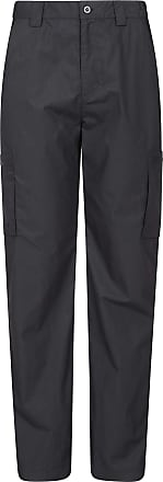 Mountain Warehouse Trek Mens Outdoor Trousers - Fast Drying Trousers, Elastic Waistband Casual Bottoms, 6 Pockets Regular Length Pants - for Travelling & Hiking Black 40