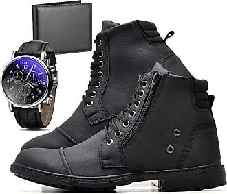 Juilli Bota Coturno Adventure Com Relógio e Carteira Masculino JUILLI R502DB Tamanho:39;cor:Preto;gênero:Masculino