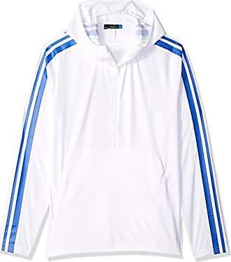 J.Lindeberg Mens Logo TX Jersey Hoodie, White, Large