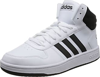 sale retailer a8d98 9543a adidas Mens Hoops 2.0 Mid Basketball Shoes FTWR White Core Black, 8 UK