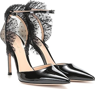 Gianvito Rossi Tulle and patent-leather pumps