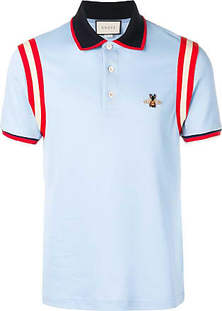 efd8ad0bc16 Gucci bee appliqué polo shirt - Blue