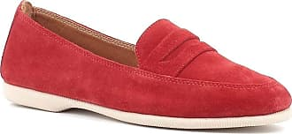 Generico Blender Suede Loafers Rubber Bottom, Red Red Size: 8.5 UK