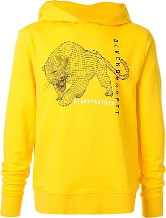 Blackbarrett Moletom com capuz e estampa de pantera - Amarelo