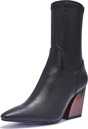 Truffle Womens Black Faux 100% Vegan Stretch Leather Ankle Boots Booties Shoes - Black - UK 3