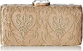 Jessica McClintock Farah Lace Evening Minaudiere, Champagne