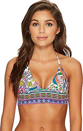 713a23743a306 Trina Turk Womens Banded Triangle Halter Bikini Swimsuit Top